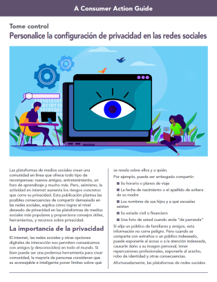 Take control: Customizing your social media privacy settings (Spanish) Cover