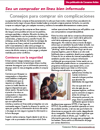 Savvy online shopping: Tips for trouble-free transactions (Spanish) Cover