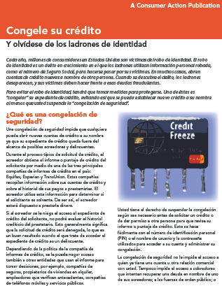 Freeze Your Credit File (Spanish) Cover
