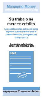 Get Credit for Your Hard Work (2017 Tax Year) (Spanish) Cover
