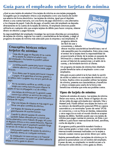 An Employee's Guide to Payroll Cards (Spanish)