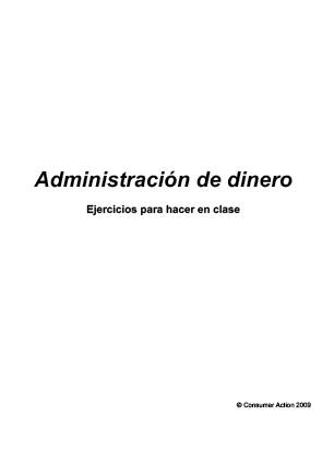 Manage Your Money Wisely - Class activities (Spanish)
