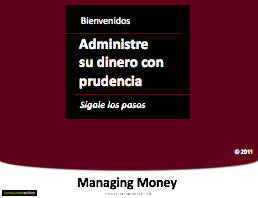 Manage your Money Wisely - PowerPoint Training Slides (Spanish)