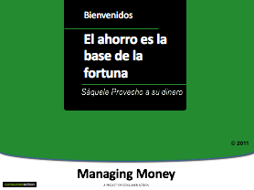 Saving to Build Wealth - PowerPoint Training Slides (Spanish)