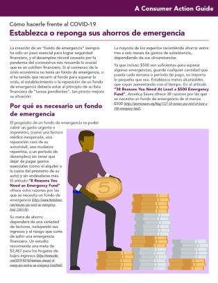 Establishing or replenishing emergency savings (Spanish)