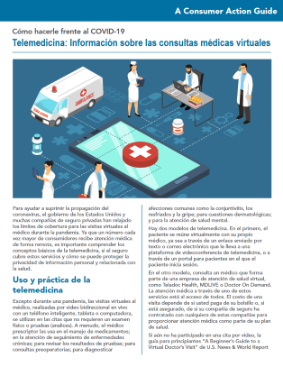 Telemedicine: What to know about virtual doctor visits (Spanish) Cover