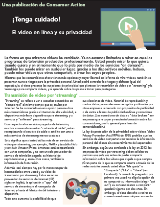 Watch out! Online video and your privacy (Spanish)