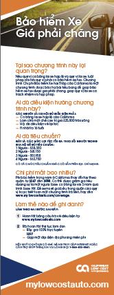 California's Low Cost Automobile Insurance Program (Vietnamese)