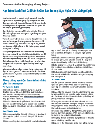 ID Theft & Account Fraud - Prevention & Cleanup (Vietnamese)