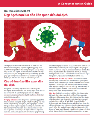 Steering clear of pandemic-related scams (Vietnamese) Cover