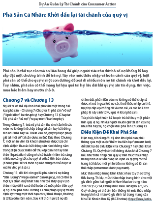 Personal bankruptcy: Your financial fresh start (Vietnamese)