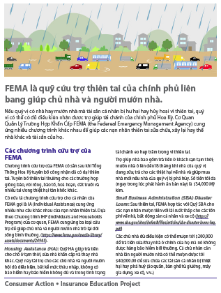 FEMA spells federal disaster relief for homeowners and renters (Vietnamese) Cover