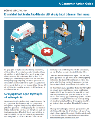 Telemedicine: What to know about virtual doctor visits (Vietnamese) Cover