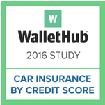 2016 Car Insurance & Credit Scores Report by WalletHub Cover Art